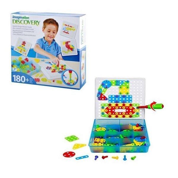 mosaico juego herramientas 180piezas