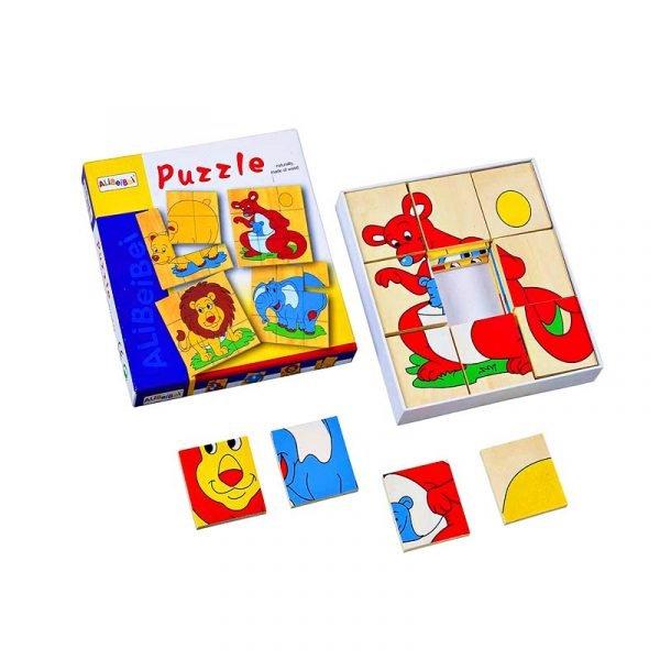 puzzle animales educativo madera