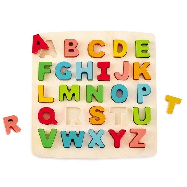 Rompecabezas abecedario encaje de madera
