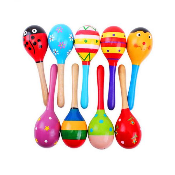 maracas de colores para ninos instrumento musical colores ninos