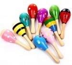 maracas de colores para ninos instrumento musical