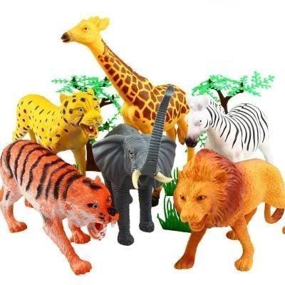 Bolsa grande de animales de la selva
