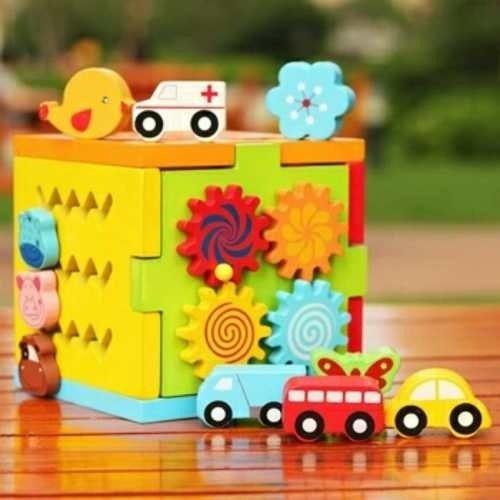 cubo multifuncional juego de encaje didacticos de madera D NQ NP 766251 MPE26771252438 022018 F