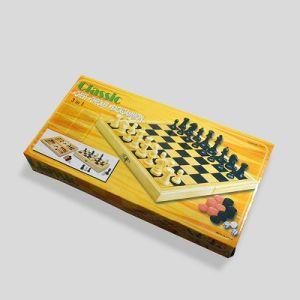ajedrez madera damas juegos navidad ninos