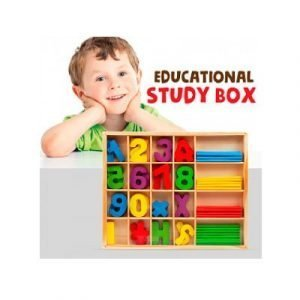 caja de matematicas madera