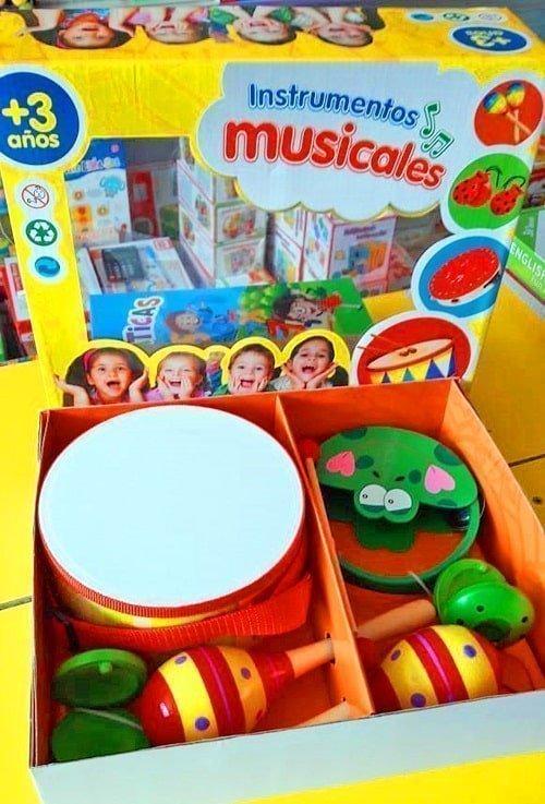 caja instrumentos musicales didactico