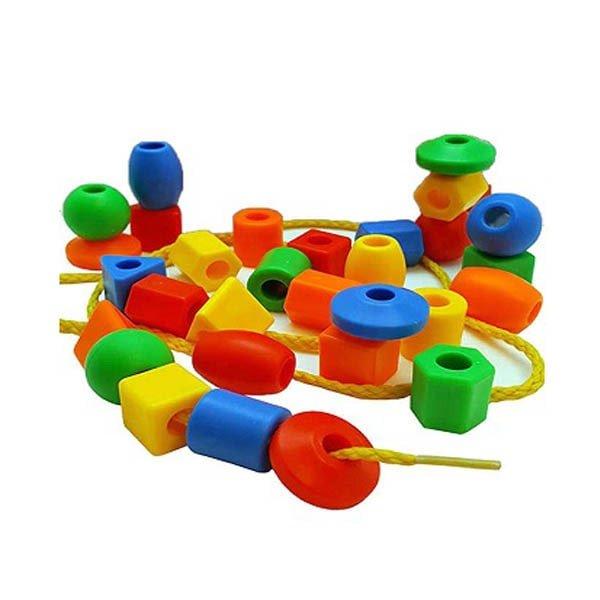 50 Uds juguetes de cuentas figuras geom tricas juego para enhebrar cuentas juguete educativo para beb