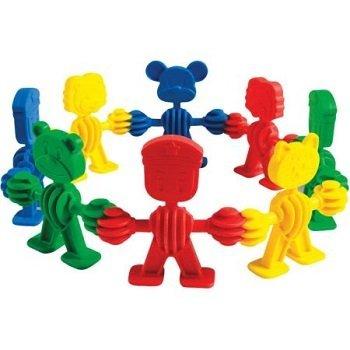 juego de ensarte engranimals de plastico