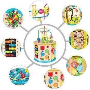 madera-cubo-bolas-laberinto-multiusos-multifunciona
