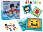 Mosaico logico de construccion para ninos