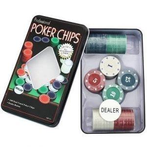 poker lata fichas juego mesa
