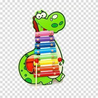 dinosaurio xilofono grande madera instrumento musical