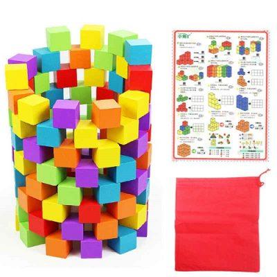 cubos construccion de colores 100 peru