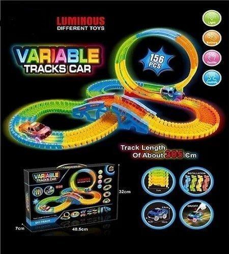 pista-carros-tracks-luces-156-piezas