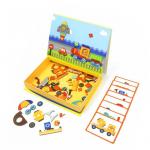 Mosaico magnético educativo con patrones