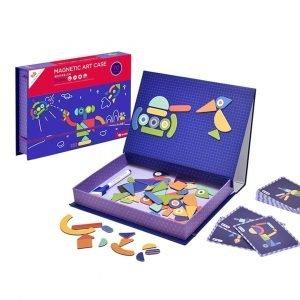 Mosaico magnético educativo con patrones lima