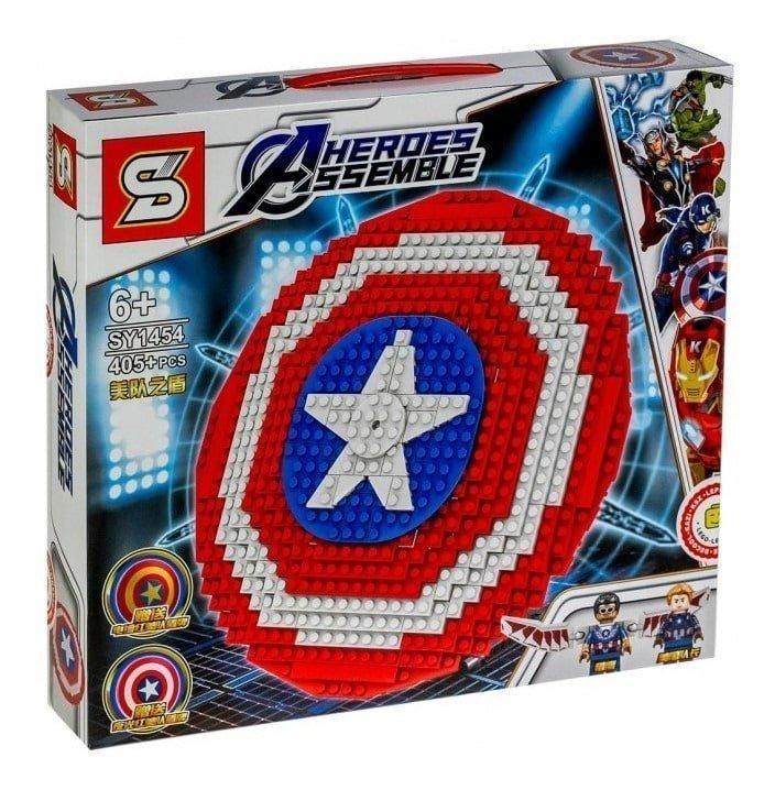 lego escudo capitan america super heroes intelikids navidad peru