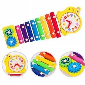 xilofono con engranaje y reloj