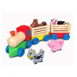 Tren de madera granja