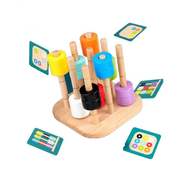 Juego montessori con patrones de colores