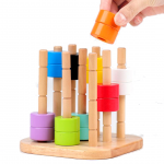 Juego montessori con patrones de colores lima